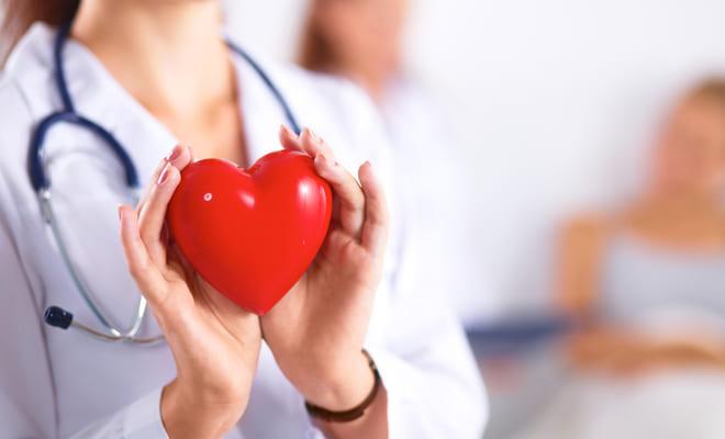 Corazón de la mujer diabética